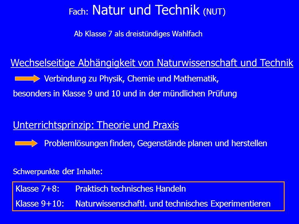 Wechselseitige Abhängigkeit von Naturwissenschaft und Technik