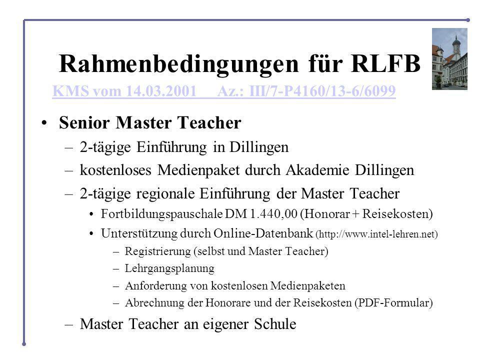 Rahmenbedingungen für RLFB