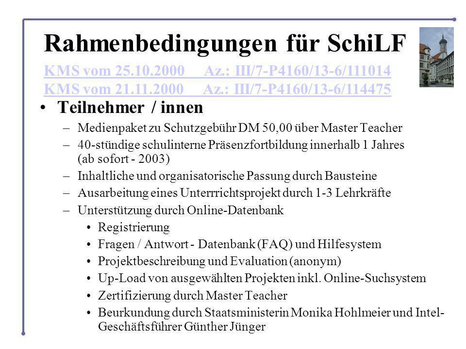 Rahmenbedingungen für SchiLF