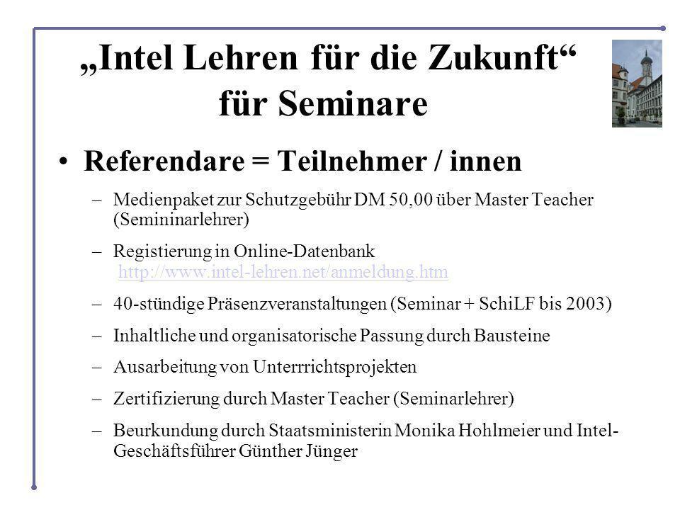 """""""Intel Lehren für die Zukunft für Seminare"""