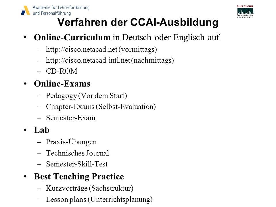 Verfahren der CCAI-Ausbildung