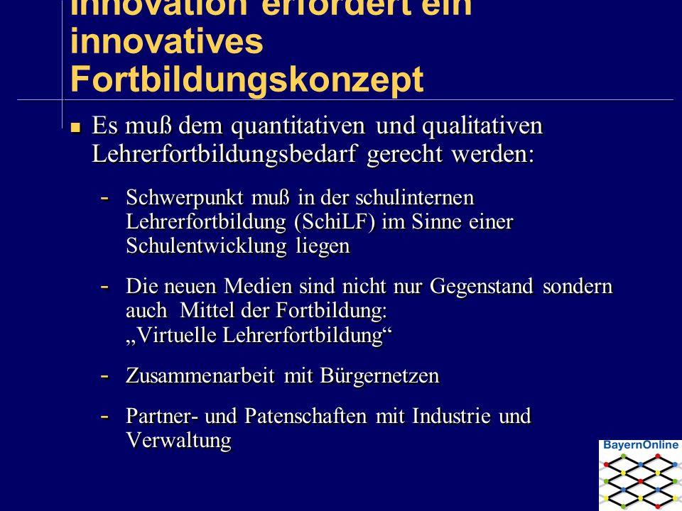 Innovation erfordert ein innovatives Fortbildungskonzept