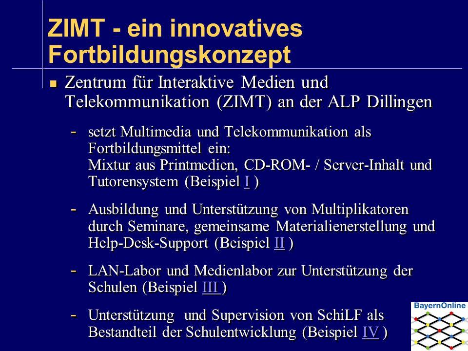 ZIMT - ein innovatives Fortbildungskonzept