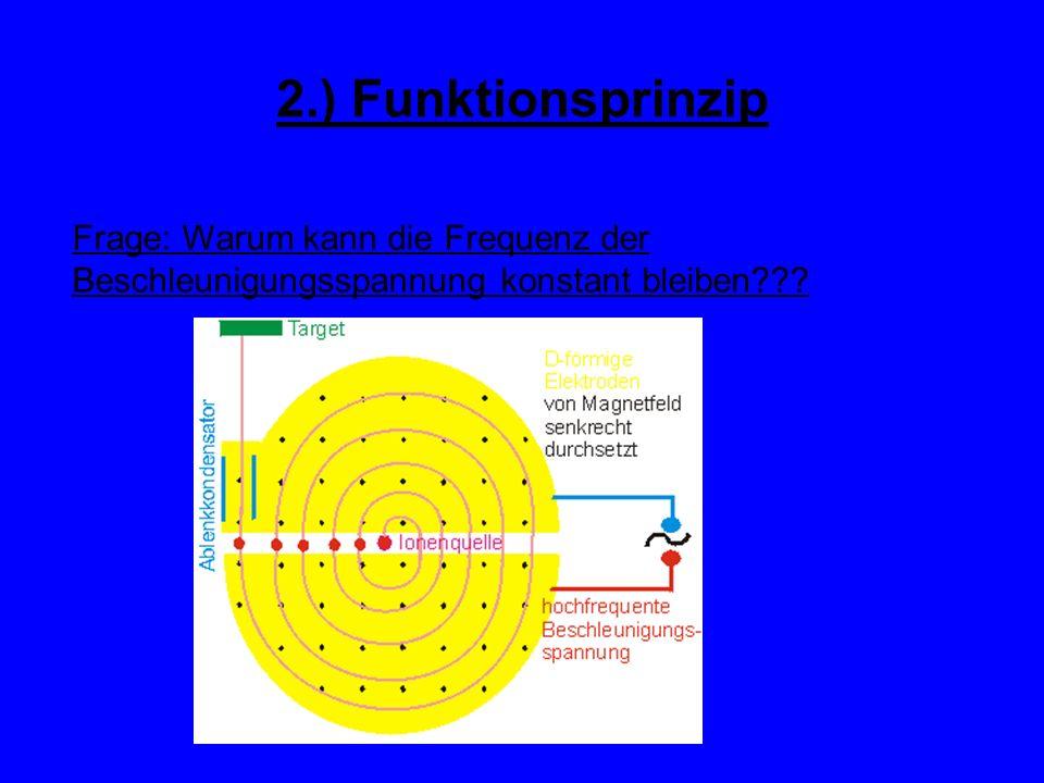 2.) Funktionsprinzip Frage: Warum kann die Frequenz der