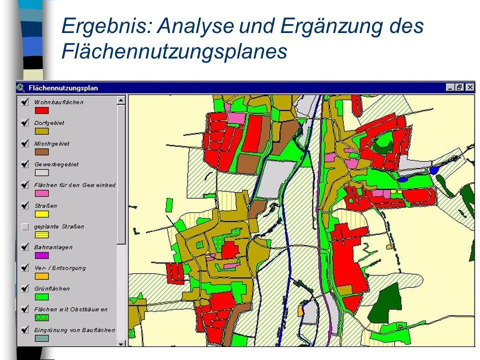 Ergebnis: Analyse und Ergänzung des Flächennutzungsplanes