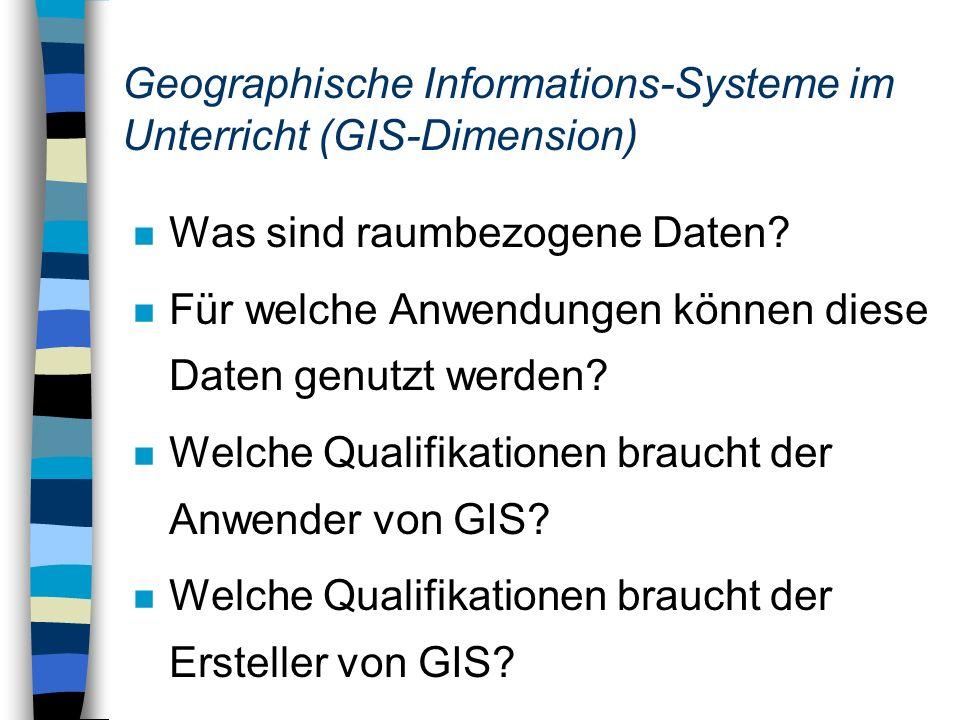 Geographische Informations-Systeme im Unterricht (GIS-Dimension)