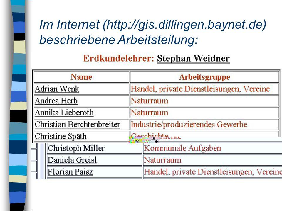 Im Internet (http://gis. dillingen. baynet