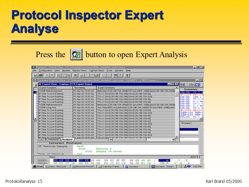Protocol Inspector Expert Analyse