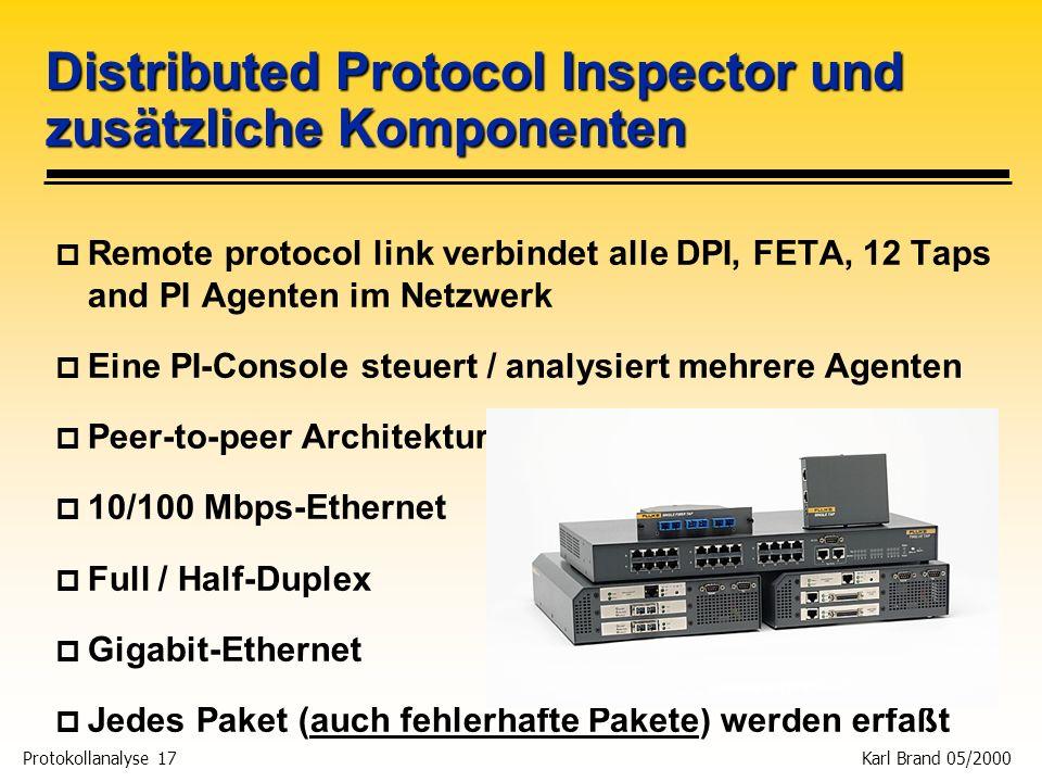 Distributed Protocol Inspector und zusätzliche Komponenten