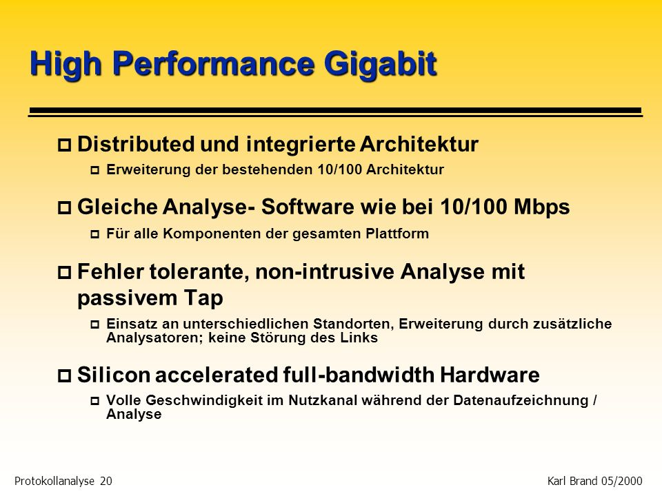 High Performance Gigabit