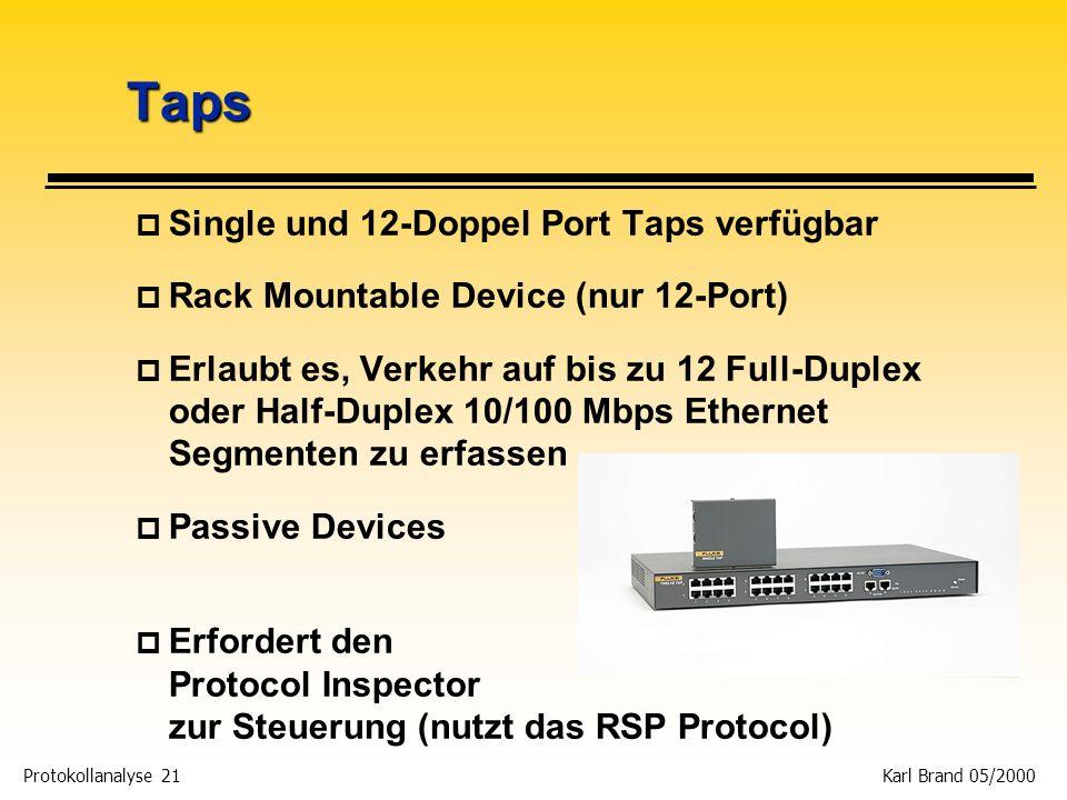 Taps Single und 12-Doppel Port Taps verfügbar