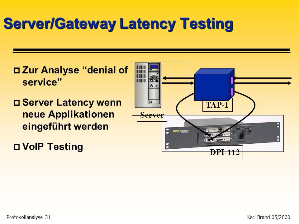 Server/Gateway Latency Testing