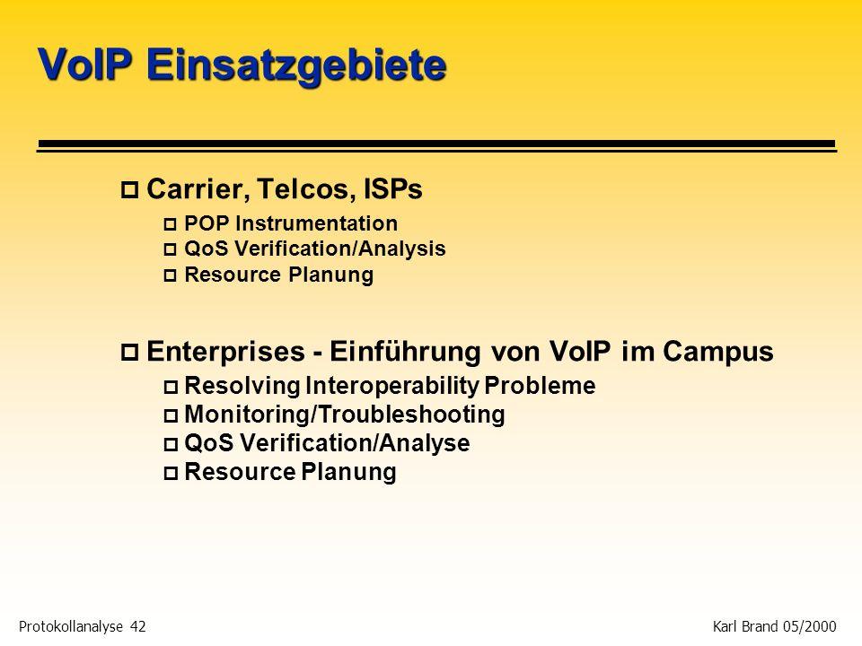 VoIP Einsatzgebiete Carrier, Telcos, ISPs