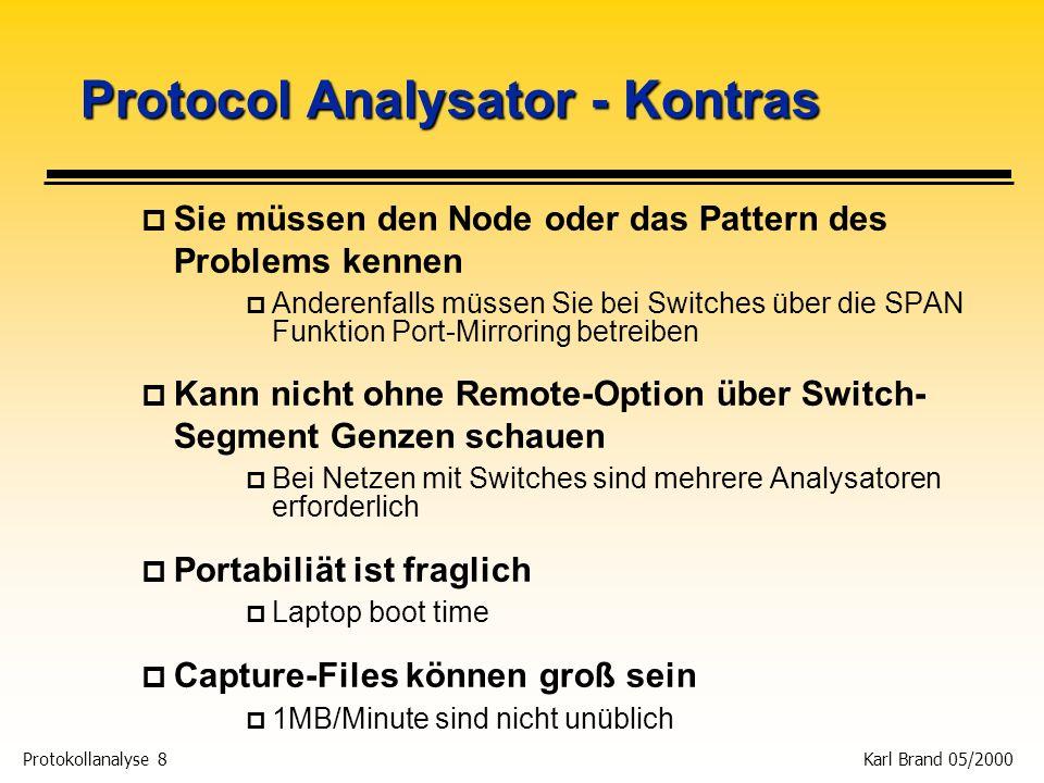 Protocol Analysator - Kontras