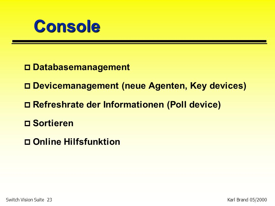 Console Databasemanagement