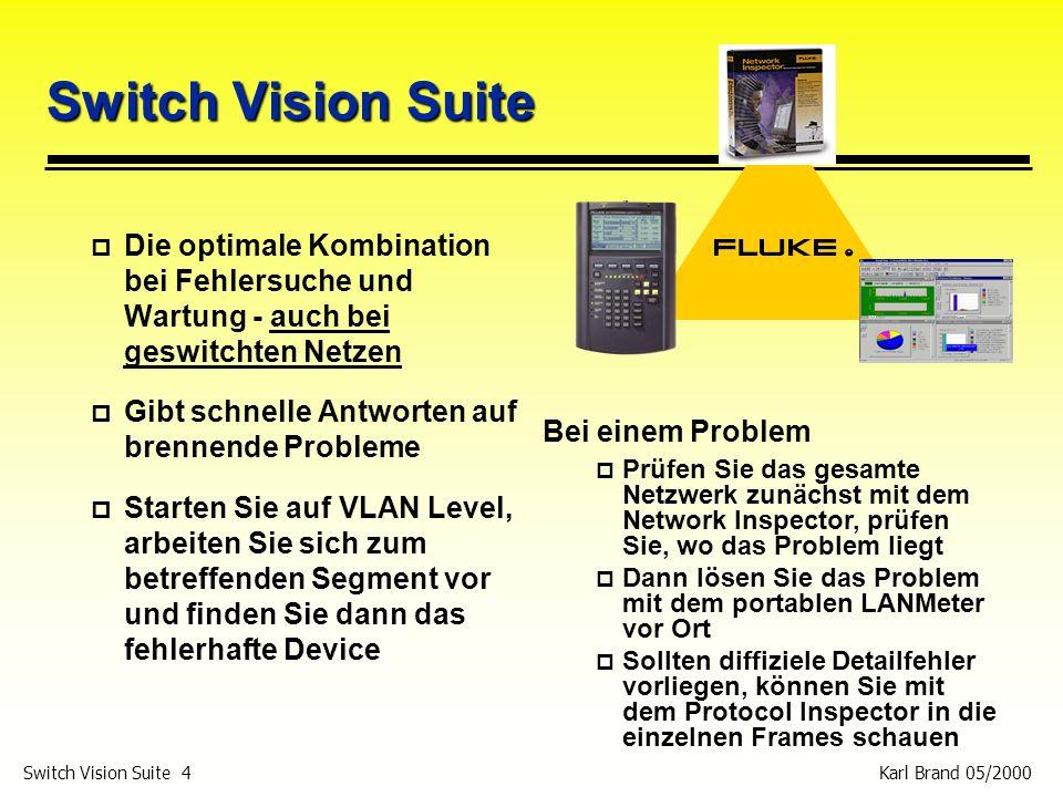 Switch Vision Suite Die optimale Kombination bei Fehlersuche und Wartung - auch bei geswitchten Netzen.