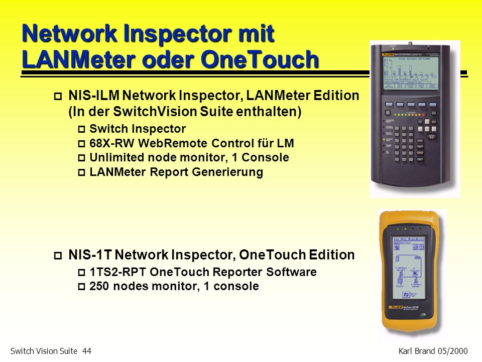 Network Inspector mit LANMeter oder OneTouch