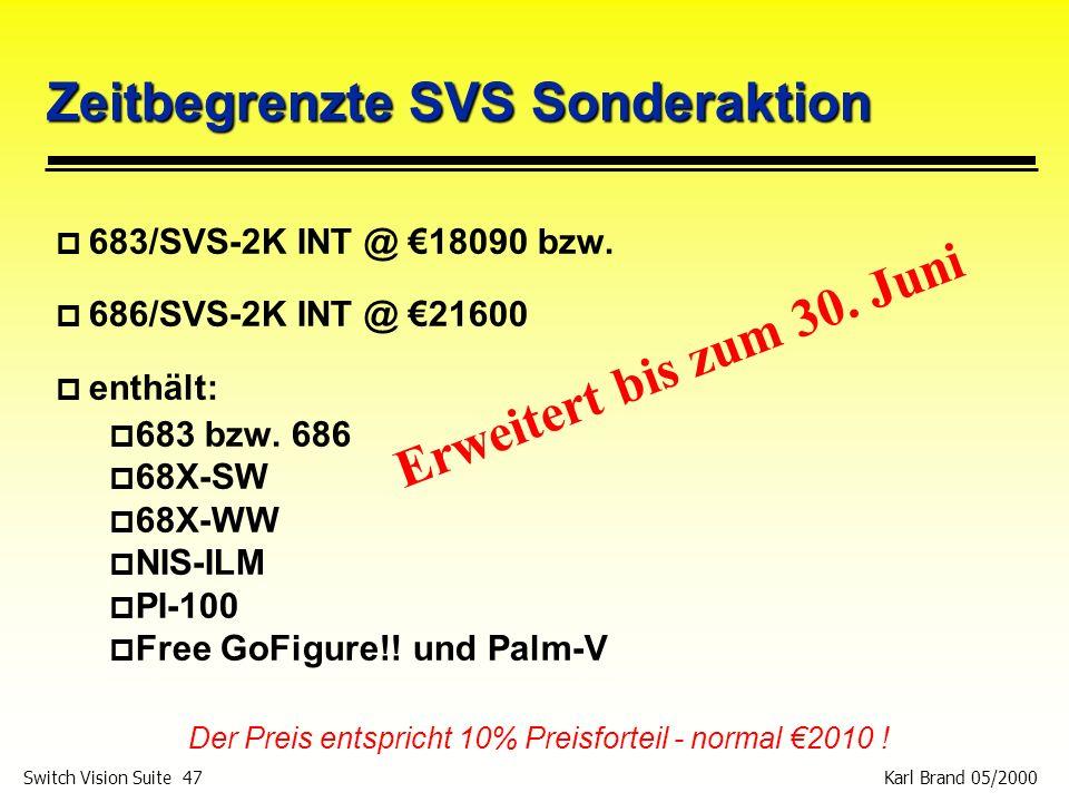 Zeitbegrenzte SVS Sonderaktion