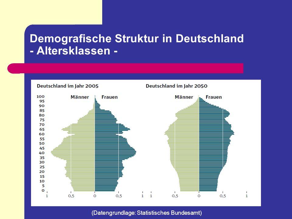 Demografische Struktur in Deutschland - Altersklassen -