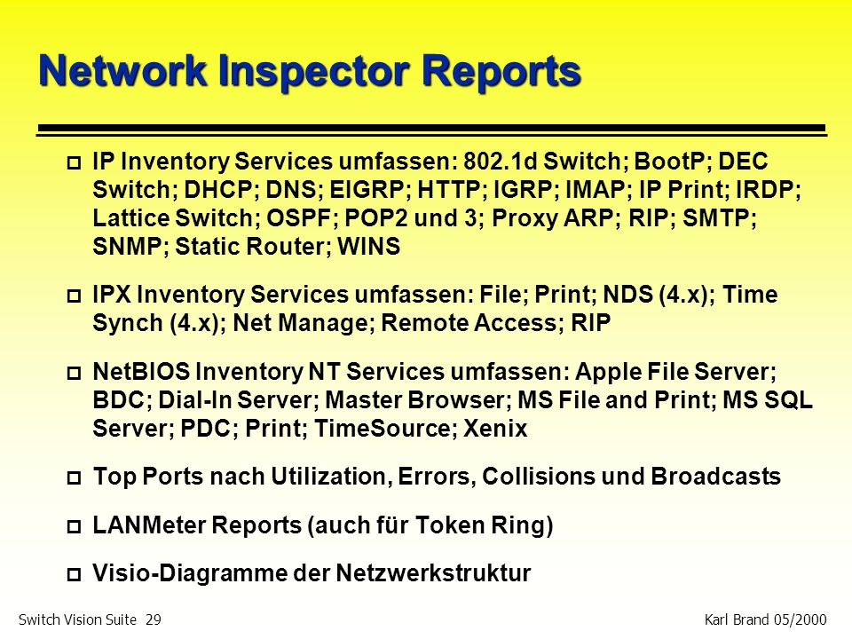 Network Inspector Reports
