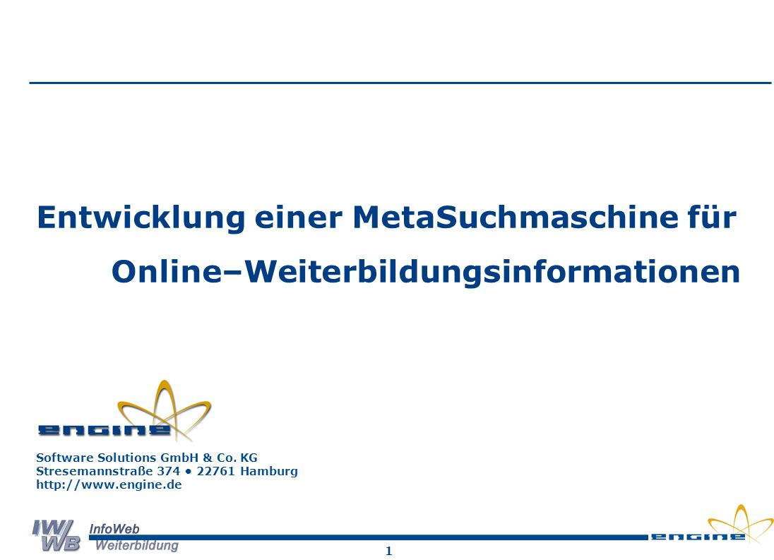 Online–Weiterbildungsinformationen