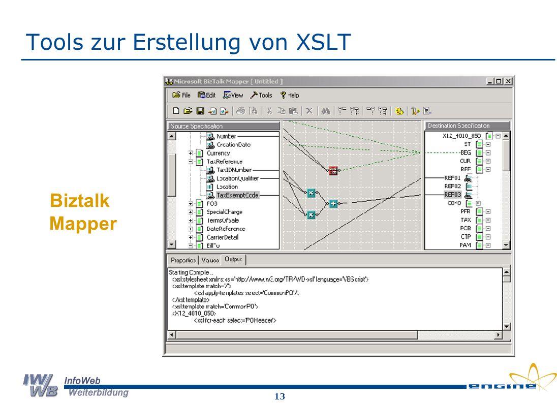 Tools zur Erstellung von XSLT