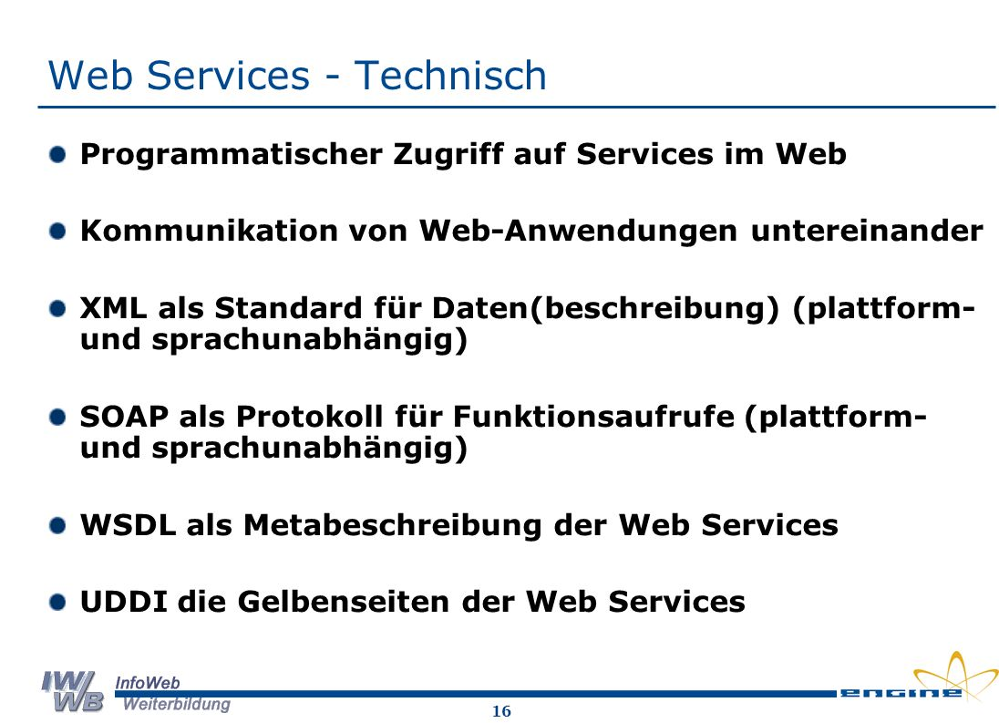 Web Services - Technisch
