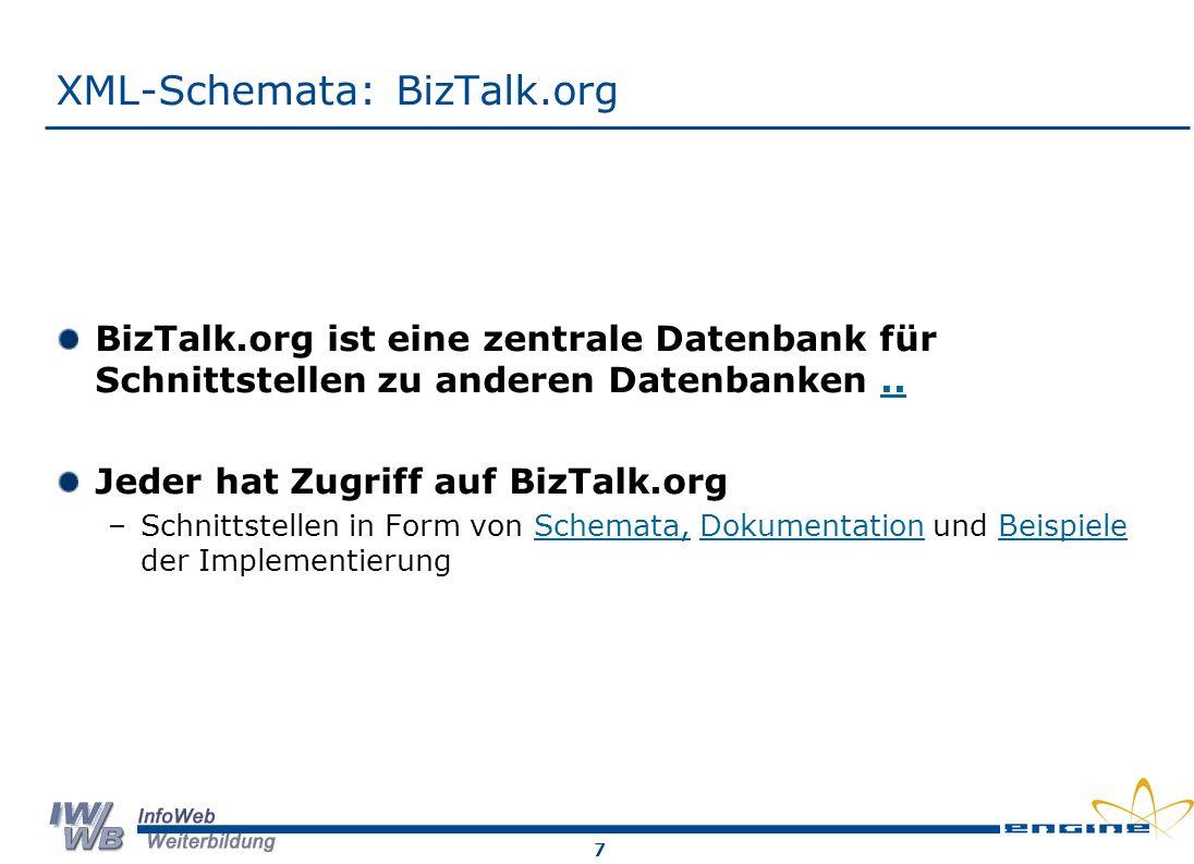 XML-Schemata: BizTalk.org