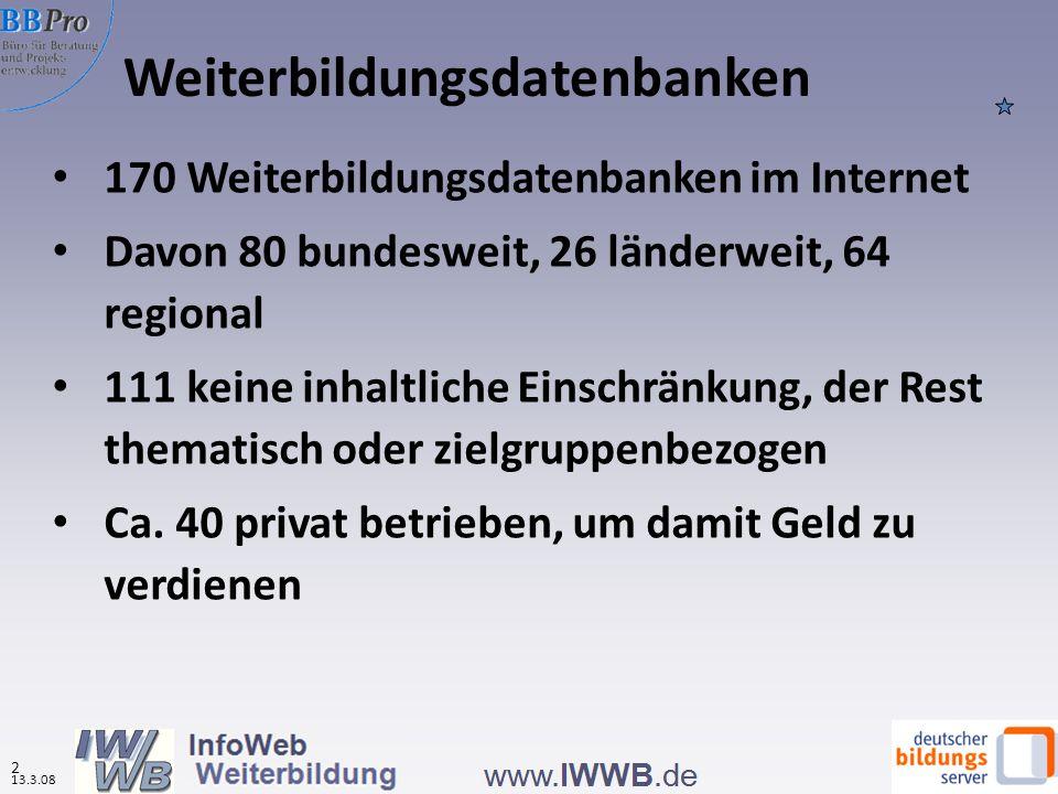 Weiterbildungsdatenbanken