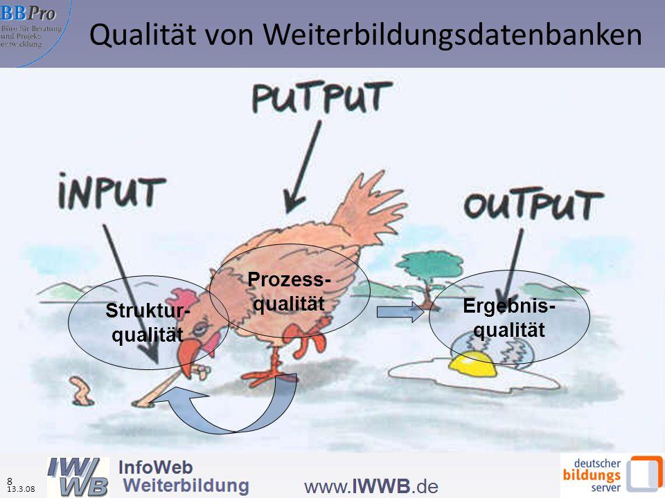 Qualität von Weiterbildungsdatenbanken