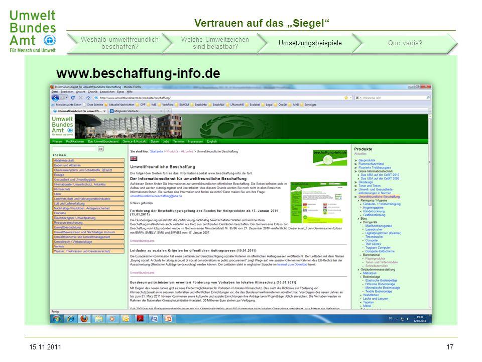 Informationsinstrumente www.beschaffung-info.de