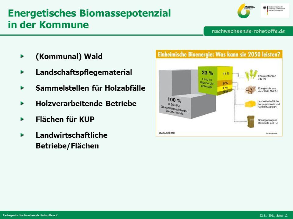 Energetisches Biomassepotenzial in der Kommune