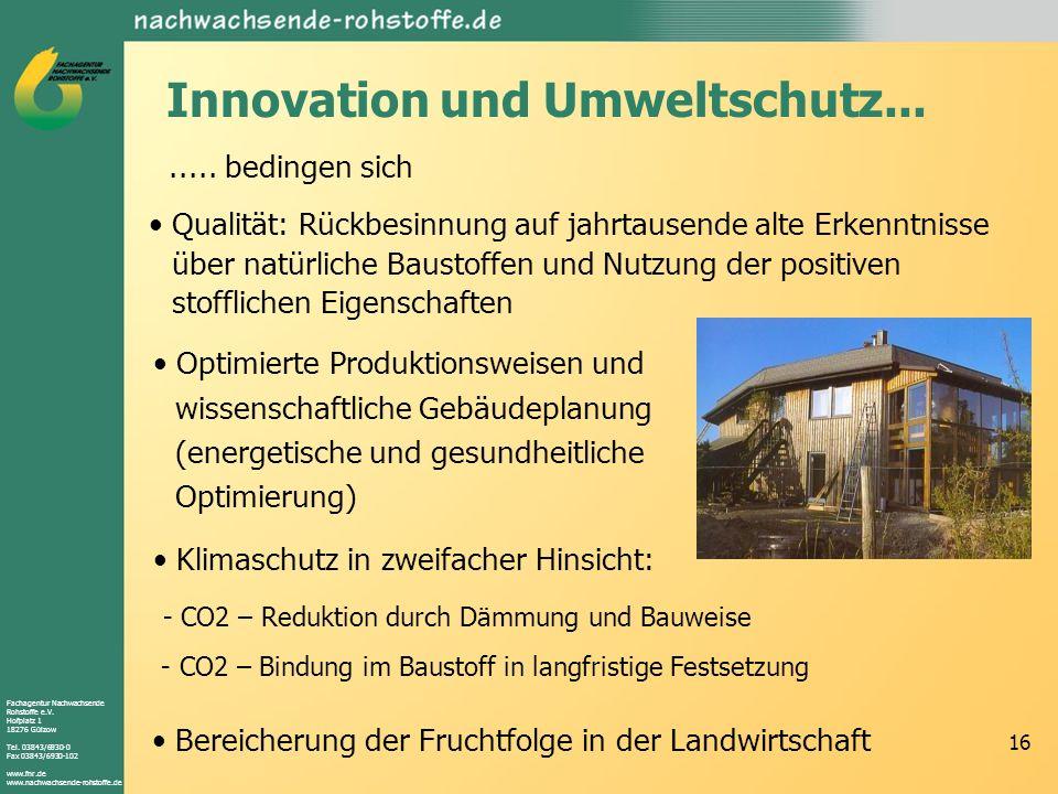 Innovation und Umweltschutz...