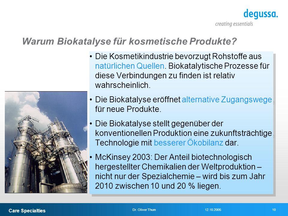 Warum Biokatalyse für kosmetische Produkte