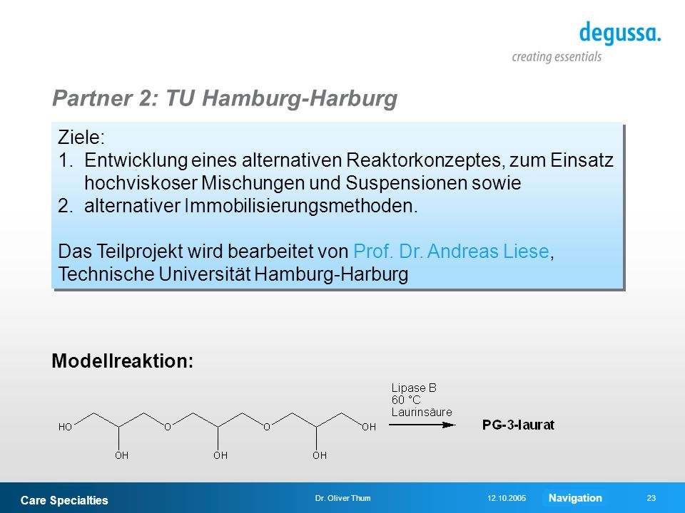 Partner 2: TU Hamburg-Harburg