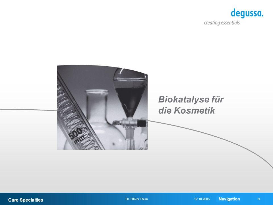 Biokatalyse für die Kosmetik