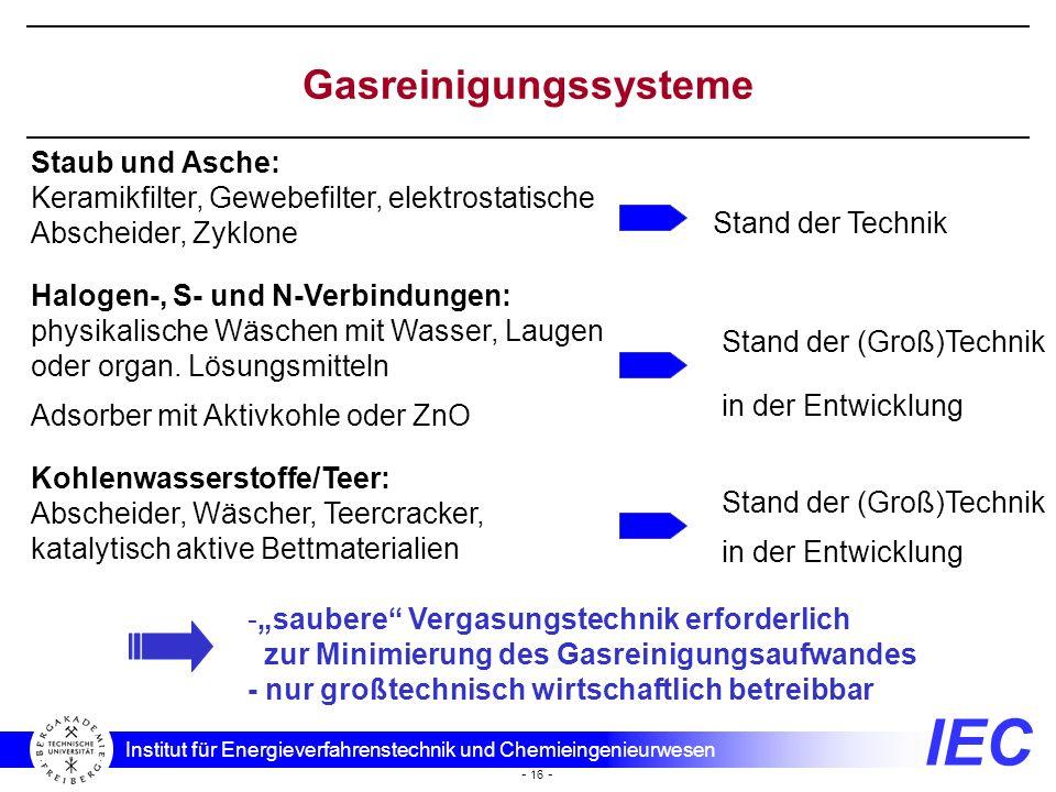 Gasreinigungssysteme
