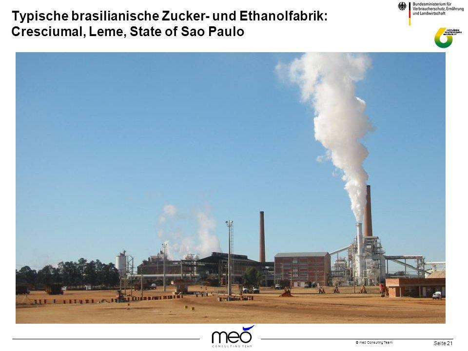 Typische brasilianische Zucker- und Ethanolfabrik: Cresciumal, Leme, State of Sao Paulo