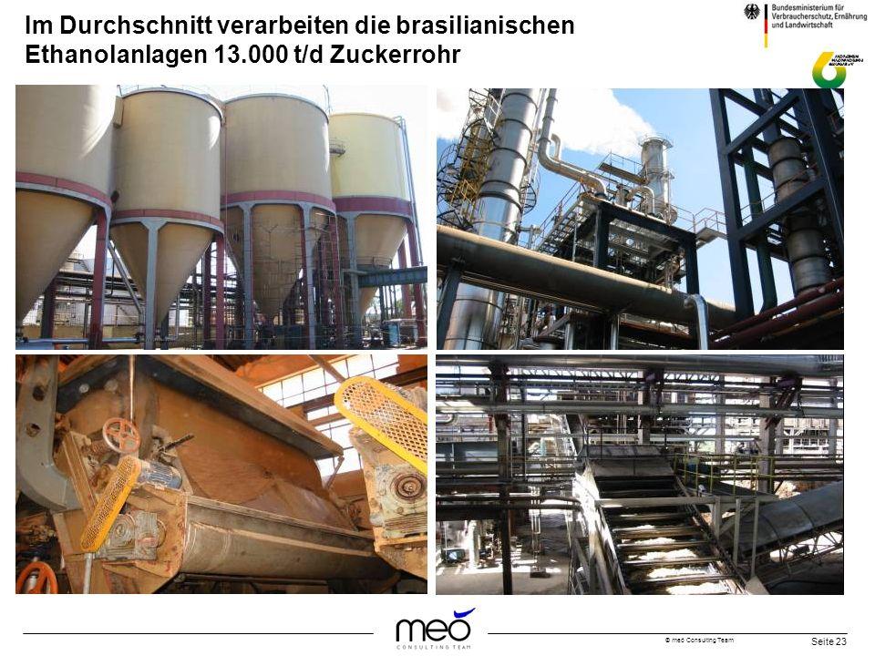 Im Durchschnitt verarbeiten die brasilianischen Ethanolanlagen 13