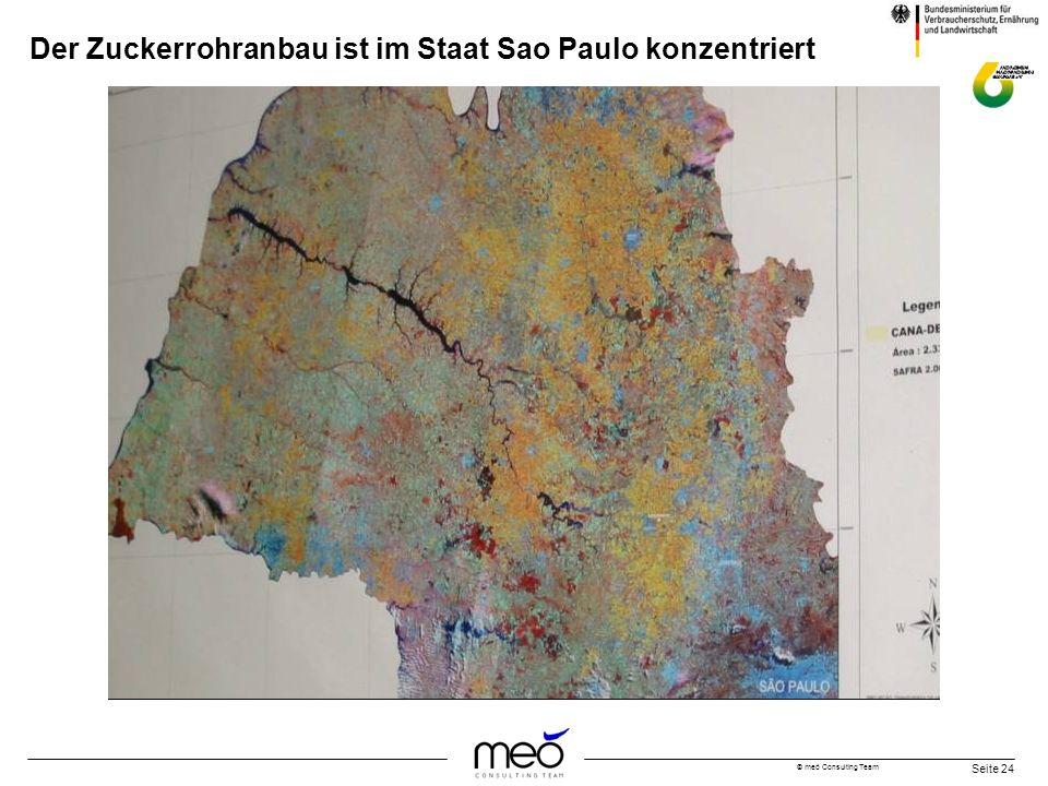 Der Zuckerrohranbau ist im Staat Sao Paulo konzentriert