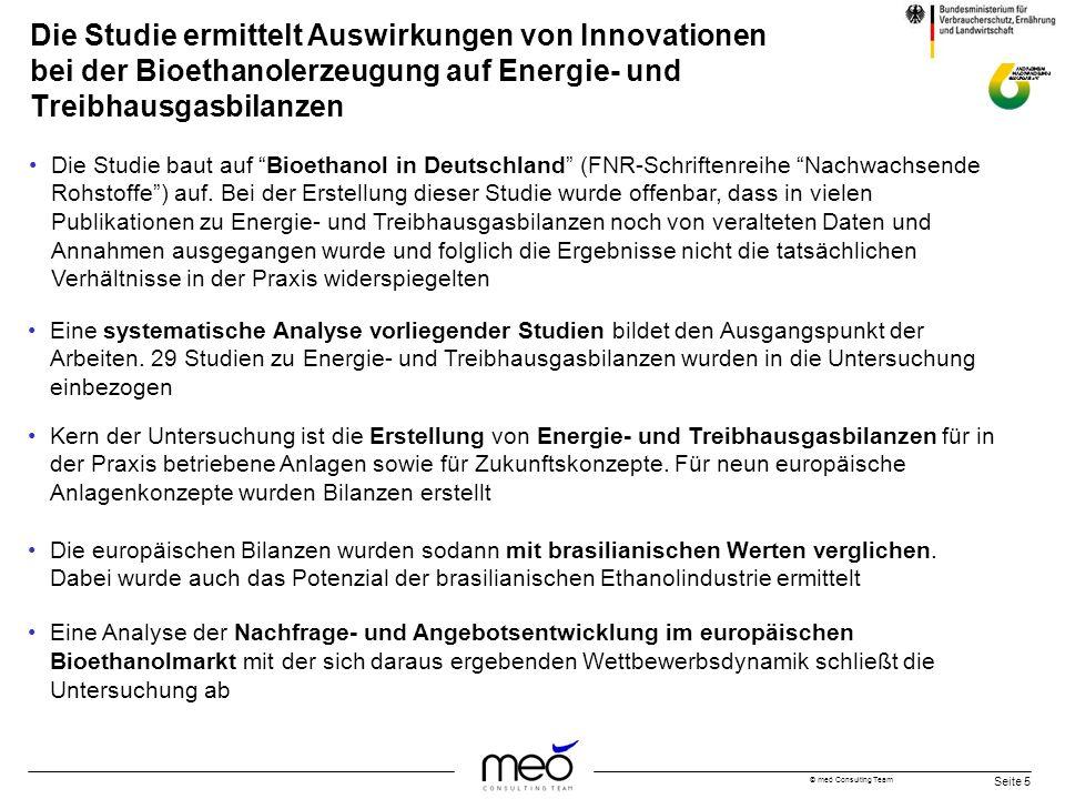 Die Studie ermittelt Auswirkungen von Innovationen bei der Bioethanolerzeugung auf Energie- und Treibhausgasbilanzen
