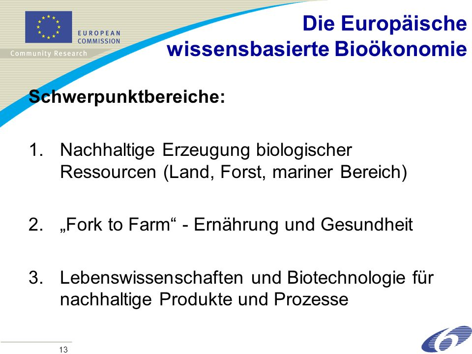 Die Europäische wissensbasierte Bioökonomie
