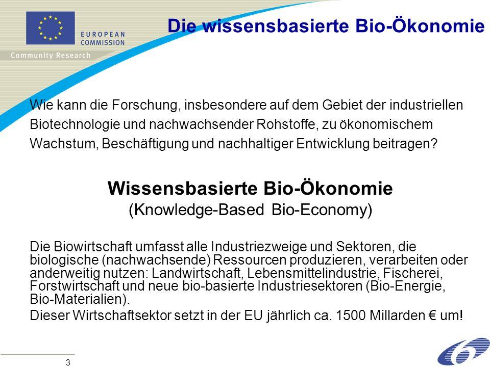 Die wissensbasierte Bio-Ökonomie