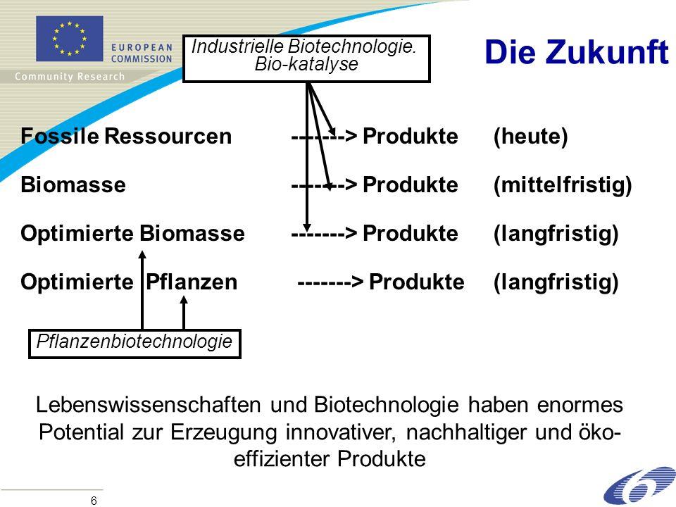 Die Zukunft Fossile Ressourcen -------> Produkte (heute)