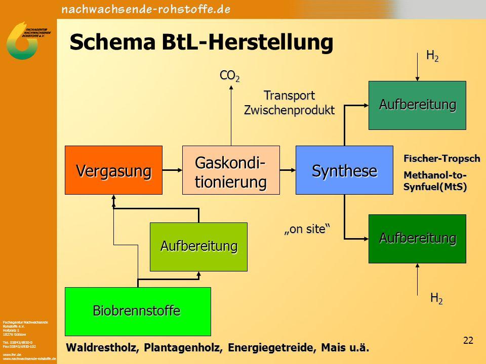 Schema BtL-Herstellung