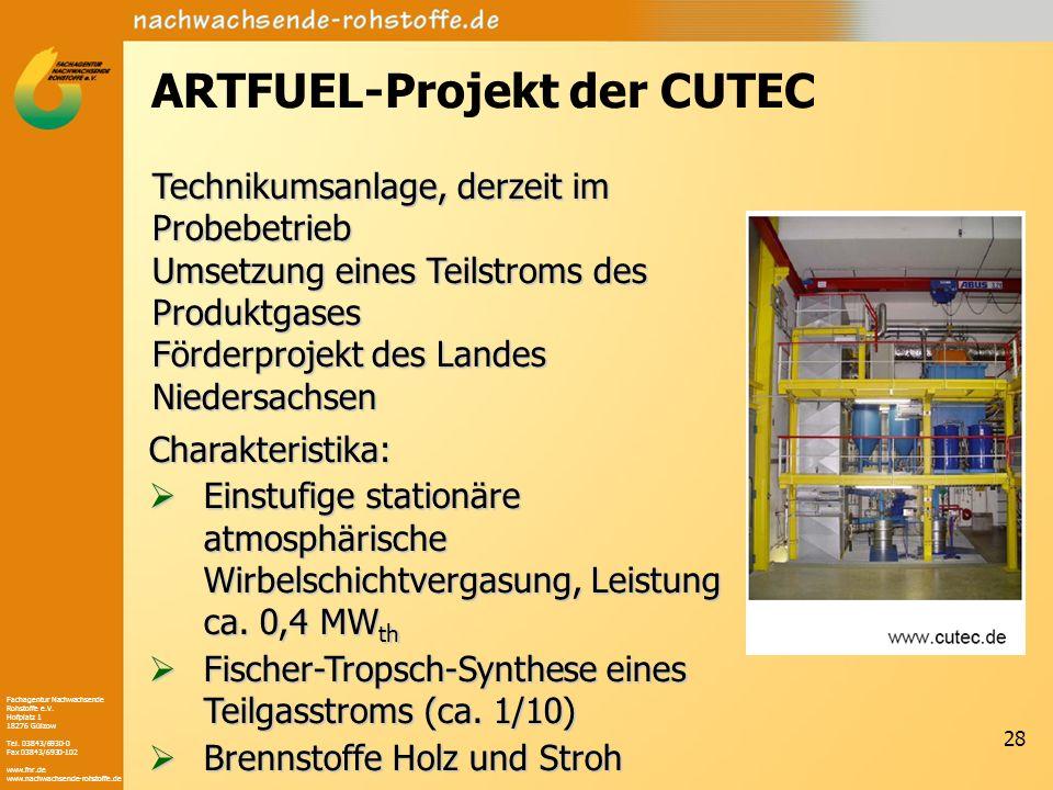 ARTFUEL-Projekt der CUTEC