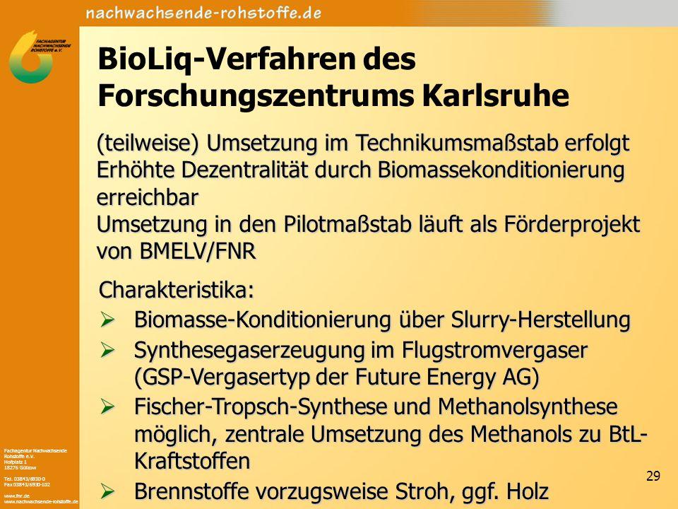 BioLiq-Verfahren des Forschungszentrums Karlsruhe