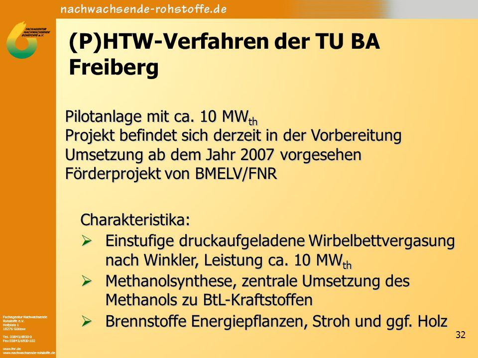 (P)HTW-Verfahren der TU BA Freiberg