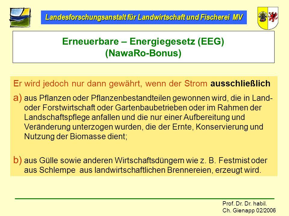 Erneuerbare – Energiegesetz (EEG) (NawaRo-Bonus)