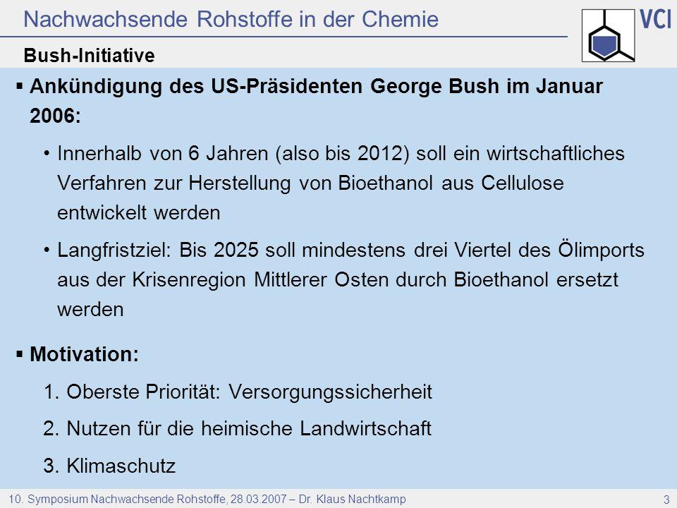 Ankündigung des US-Präsidenten George Bush im Januar 2006: